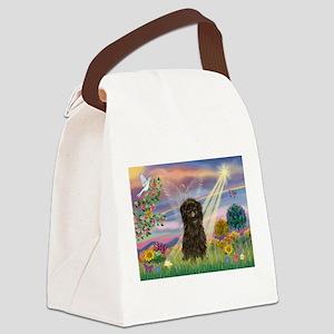 Cloud Angel & Affenpinscher Canvas Lunch Bag