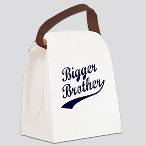 Bigger Brother (Blue Text) Canvas Lunch Bag