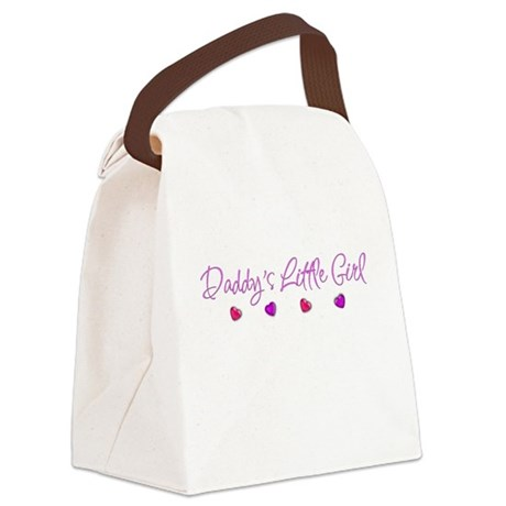 Daddy's Little Girl Canvas Lunch Bag