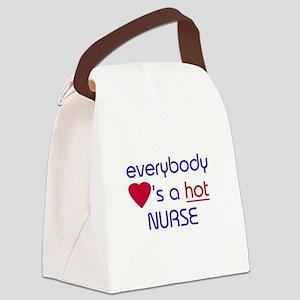 EVERYBODY LOVES A HOT NURSE Canvas Lunch Bag