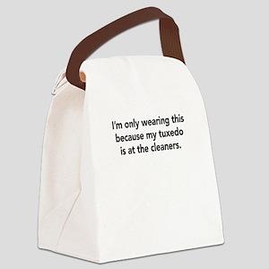 Tuxedo Canvas Lunch Bag
