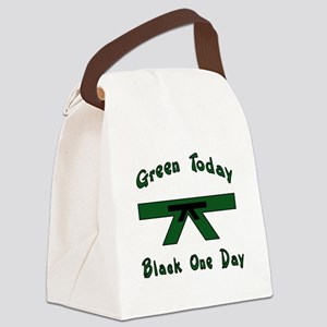 Green Belt Canvas Lunch Bag