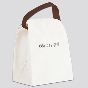 Obama Girl T-shirts Canvas Lunch Bag