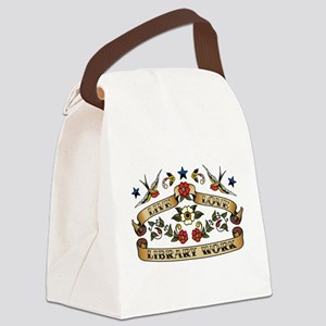 Live Love Library Work Canvas Lunch Bag