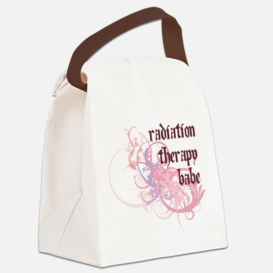 Radiation Therapy Babe Canvas Lunch Bag