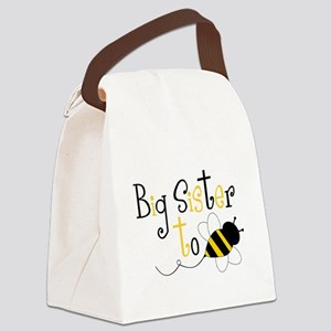 Big Sister to Bee Canvas Lunch Bag