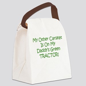 Carseat Daddys Green Tractor Canvas Lunch Bag