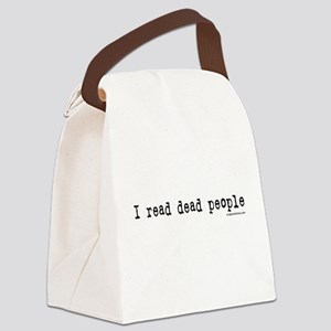 I read dead people Canvas Lunch Bag
