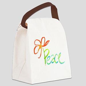 Grow Peace Canvas Lunch Bag
