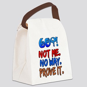 60?! Not Me Canvas Lunch Bag