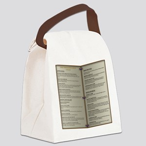 Dragon's Den Tavern Menu Canvas Lunch Bag