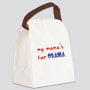 My Mama's For Obama Canvas Lunch Bag