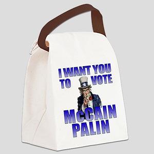McCain Palin Uncle Sam Canvas Lunch Bag