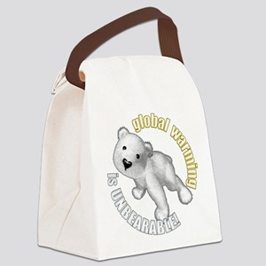 unBEARable Canvas Lunch Bag