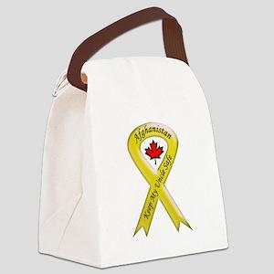 Afghanistan Uncle Safe Ribbon Canvas Lunch Bag