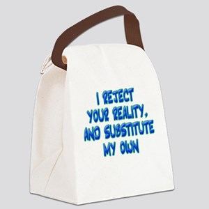 """Reality"" Canvas Lunch Bag"