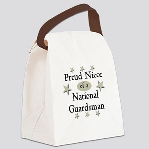Proud Niece National Guard Canvas Lunch Bag