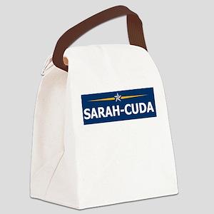 """Sarah-Cuda"" Canvas Lunch Bag"