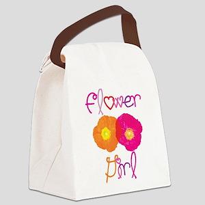 Flower Girl Canvas Lunch Bag