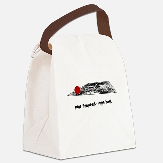four squares one ball Canvas Lunch Bag