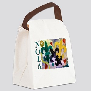 Mardi Gras Fleur de lis Canvas Lunch Bag