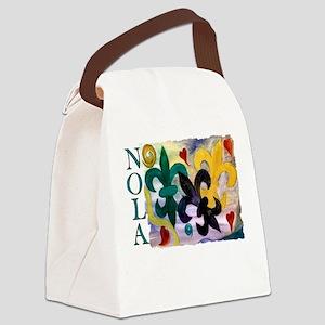 Mardi Gras Fleur de lis Canvas Lunch Bag