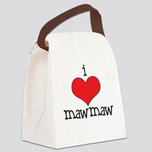 I Love Maw Maw Canvas Lunch Bag