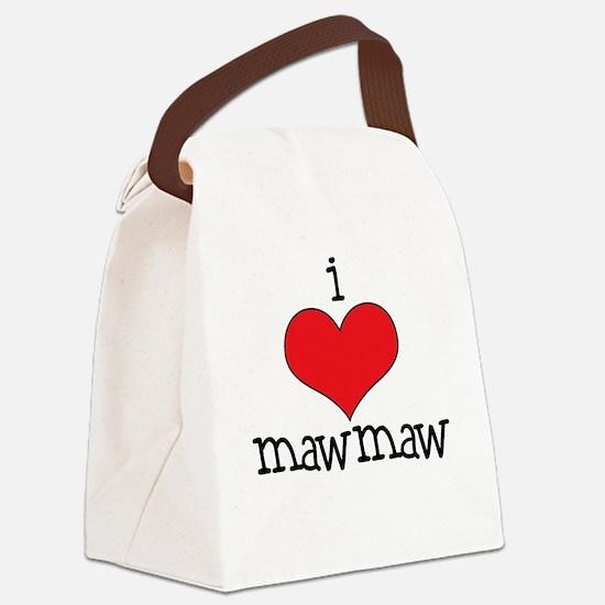 I Love Maw Maw Canvas Lunch Bag