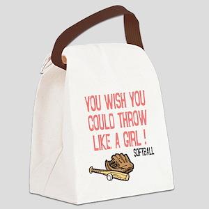 Throw Like a Girl Canvas Lunch Bag