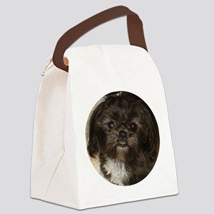 Black Shih Tzu Canvas Lunch Bag