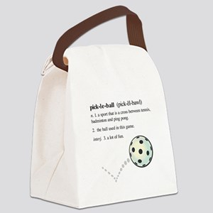 pickleball definition with ba Canvas Lunch Bag