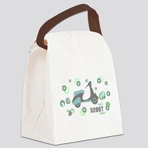Retro Scooter Canvas Lunch Bag
