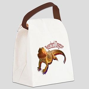 Bearded Dragon III Canvas Lunch Bag