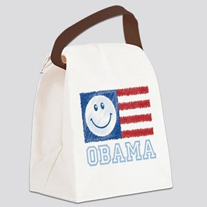 Obama Smiley Flag Canvas Lunch Bag