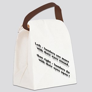 Left-handers see more Canvas Lunch Bag
