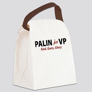 God, Guns, Glory, Palin Canvas Lunch Bag