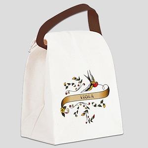 Viola Scroll Canvas Lunch Bag