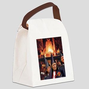 Bohemian Grove Bushes Canvas Lunch Bag