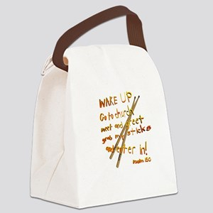 Wake Up Canvas Lunch Bag