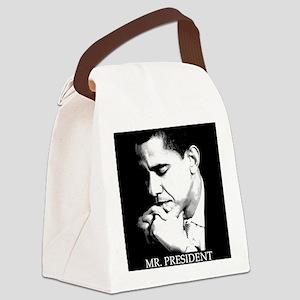 Barack Obama: MR. PRESIDENT - Canvas Lunch Bag
