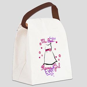Cutest Flower Girl Ever! Purple Canvas Lunch Bag