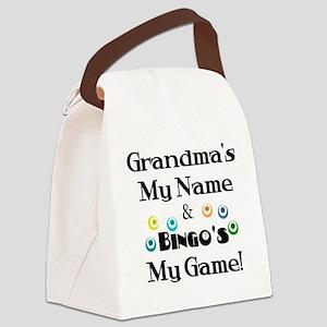 Grandma and Bingo Canvas Lunch Bag