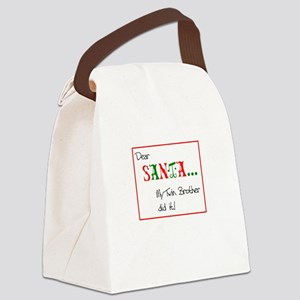 DEAR SANTA TWINS DESIGN Canvas Lunch Bag