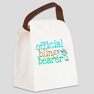 Official Bling Bearer Green Canvas Lunch Bag