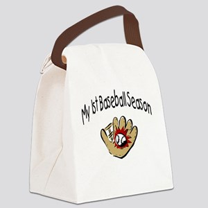 My First Baseball Season Canvas Lunch Bag