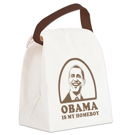 Obama is my homeboy Canvas Lunch Bag
