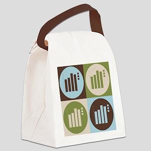 Statistics Pop Art Canvas Lunch Bag