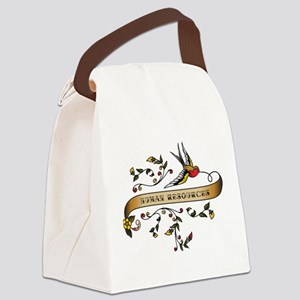 Human Resources Scroll Canvas Lunch Bag