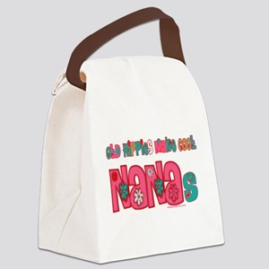 Old Hippie Nana Canvas Lunch Bag