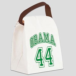 Obama 44th President grn Canvas Lunch Bag
